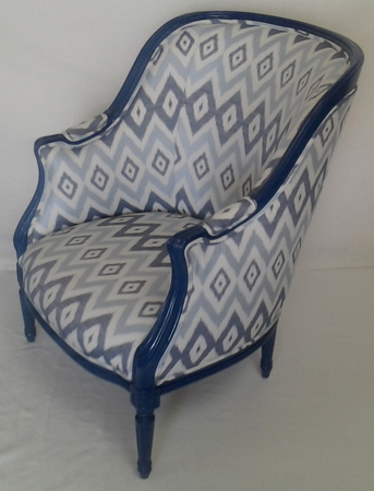 Chair reupholstered by DSD